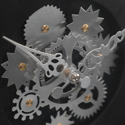 Wall Clock with Moving Gears for Wall Decor