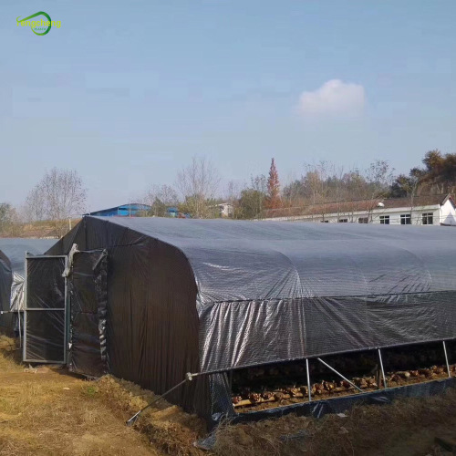 150gsm hdpe black white grid greenhouse film