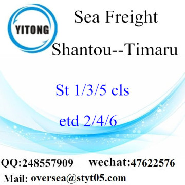Shantou Port LCL Consolidation To Timaru