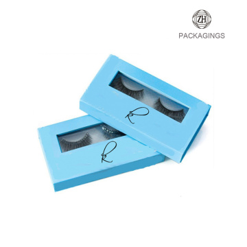 Customized logo print glitter box eyelash packaging