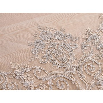 Factory rope embroidery Luxury quality lace