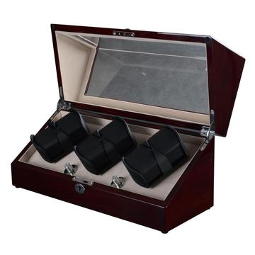 Valnød Håndlavede Triple Rotors Watch Winder