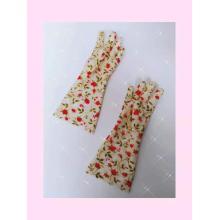 PVC coating household kitchen gloves with printed lining
