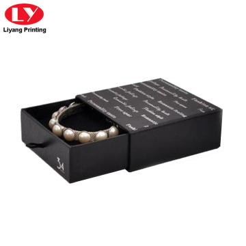 Matte Black Drawer Bracelet Gift Boxes