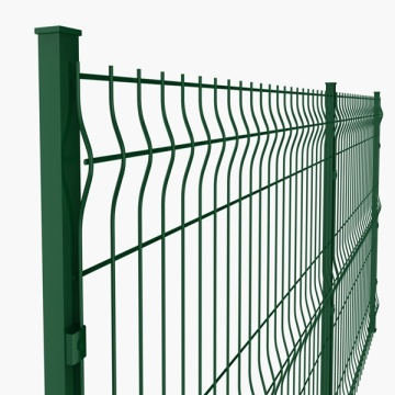 PVC coated metal fence panels steel welded wire mesh fences