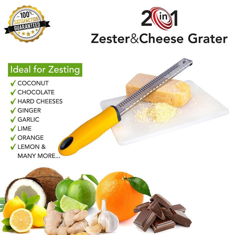 Creative Vegetable Spiralizer Lemon Zester Fruit Peeler Cheese Zester Microplane Grater Fruit Vegetable Tools & Kitchen Gadgets