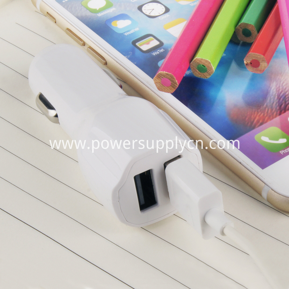 dual port usb car charger