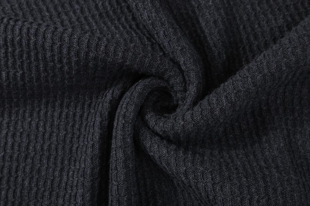 Men's Knitted Textured Thread Hoodie
