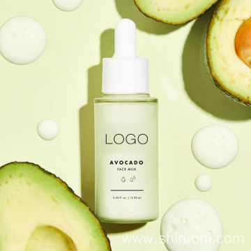 Private Label Natural Avocado Moisturizing Glowing Skin Face Milk Serum