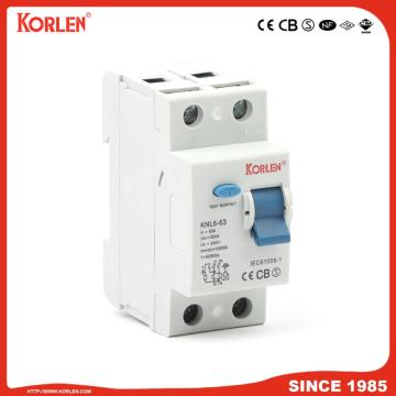 Residual Current Circuit Breaker KNL6-63 10KA TUV 2P