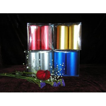 Dripless Colorful Clean Burning Unscented Pillar Candle