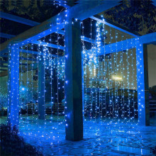 Christmas Garland 3-12M Blinking Fairy Lights Indoor Outdoor LED Icicle Curtain Lights Holiday Lighting Home Wedding Decoration