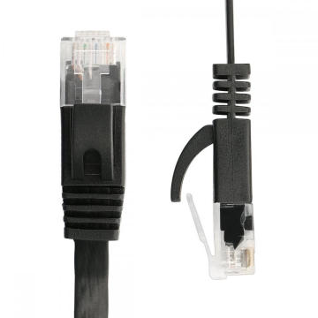 CAT6 Flat Patch Cord Cable Color Black