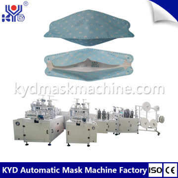 Automatic Disposable 3D Boat Shape Mask Making Machine