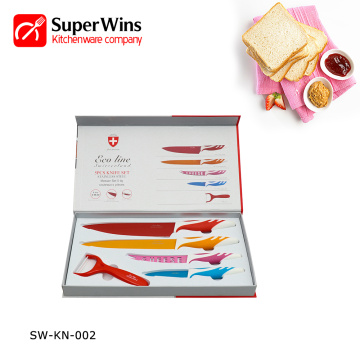 Colorful Professional Stainless Steel Kitchen Knife Set