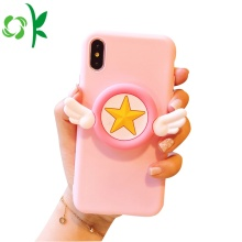 Silicone Phone Case Pink Star Game Phone Case