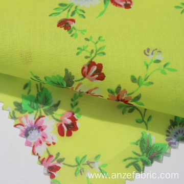 Custom digital printed floral 100 cotton voile fabric