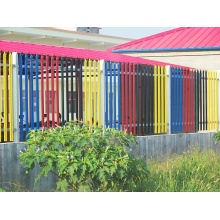 Plastic Coated Palisade Fence Panel On Sale