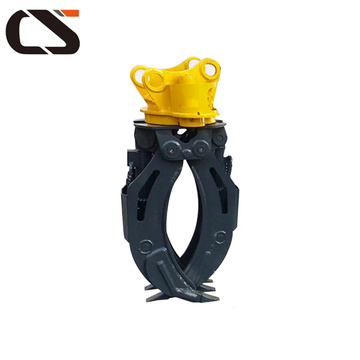 Rotating hydraulic stone grapple hyundai brand log grapple