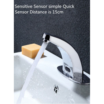 Brass Basin Automatic Infrared Sensor Faucet