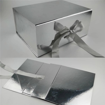 Empty Glitter Magnetic Packaging Foldable Paper Box