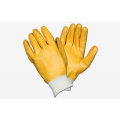 Yellow PVC Smooth Finish gloves with Interlock Liner