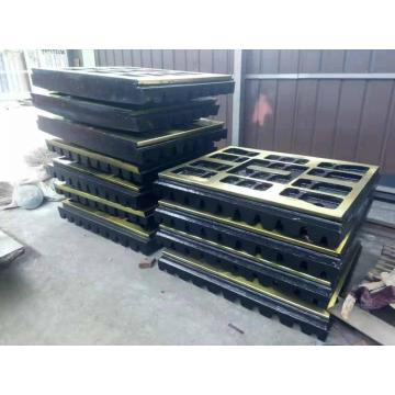 C125 stone jaw crusher wear parts jaw plate