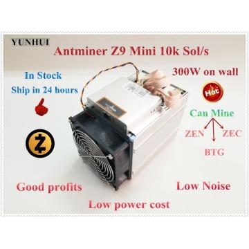 Used ZCASH Miner BITMAIN Antminer Z9 Mini 10k Sol/s Equihash ZEN ZEC BTG Miner Better Than S9 S11 S15 A9 Z9 Ship in 24 hours