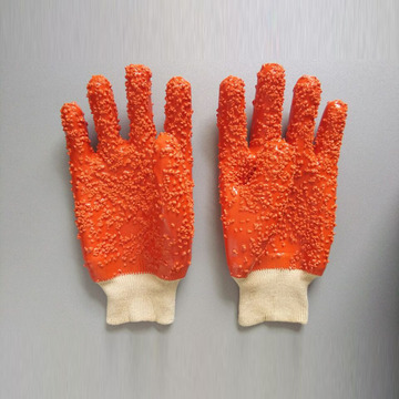 Orange grain Flannelette lined gloves
