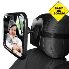 Adjustable Wide Rear View Car Mirror Auto Spiegel Baby Child Seat Car Safety Mirror Monitor Headrest Automobile Interior Styling