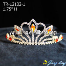 Gold Color Pageant Crowns Beauty Girl Tiaras