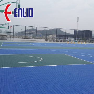 Multi-purpose Outdoor Sports Court Tiles Basketball Flooring