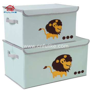 Cartoon Foldable Toy Cardboard Storage Boxes with Lids