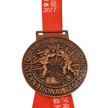 Personalized custom international karate medals