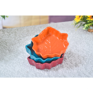 Ceramic Leaf Shaped Mini Kitchen Dish