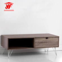 Wood Low Profile Wood Corner TV Stand