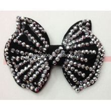 Hot-Fix Rhinestone Trimming Fabric Flower Shoe Clips