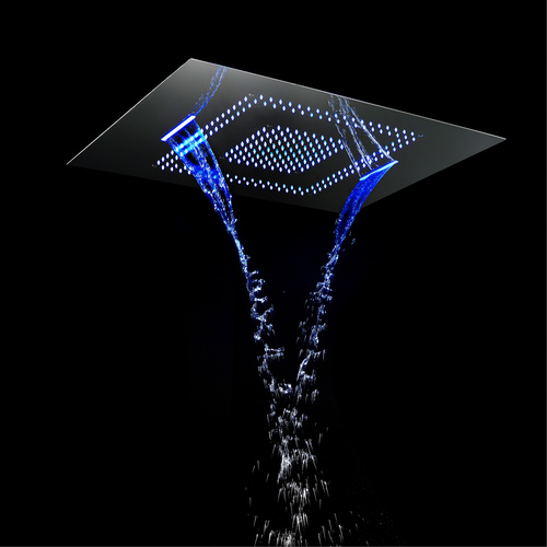 60x80cm Ceiling LED Shower Head Bathroom Shower Faucet