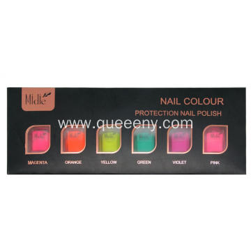 6 bottles of Fruit color Nail Polish