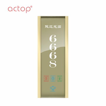 Hot sale fashional door plate for Smart hotel