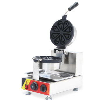 Rotate water shaped waffle maker machine factory price