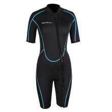 Seaskin Womens Front Zipper Shorty Wetsuit For Diving