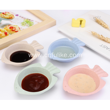 Fish Shape Wheat Straw Seasoning Dish