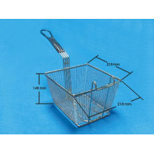 Square Stainless Steel Fry Basket Fryer
