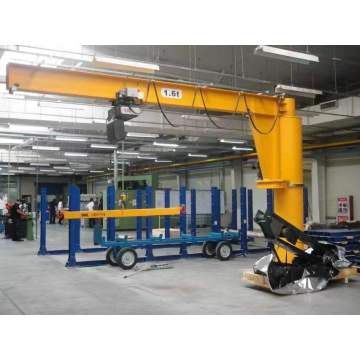 Workshop Port Loading Deck Rotating Cantilever Jib Crane