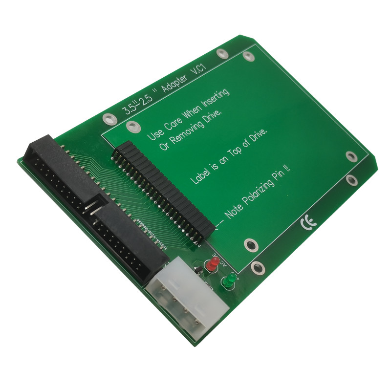 """Laptop 44pin 2.5"""" IDE to 40pin PC 3.5"""" IDE Adapter Adaptor PCBA for Hard Disk Drive"""