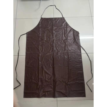 brown pvc waterproof  apron for working kitchen