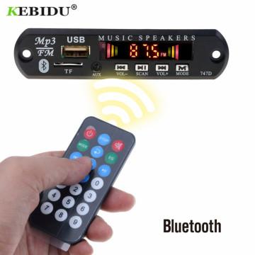 KBBIDU MP3 Decoder Board 5V 12V Bluetooth MP3 Player Decoder Board FM Radio TF USB 3.5 Mm WMA AUX Audio Receiver Car Kit