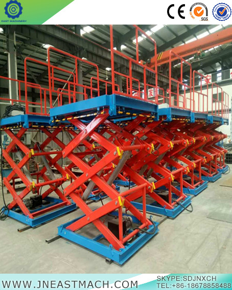 Warehouse Stationary Electric Hydraulic Multi Stage Scissor Lift Platform