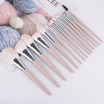 professional kabuki pink makeup brushes synthetic set